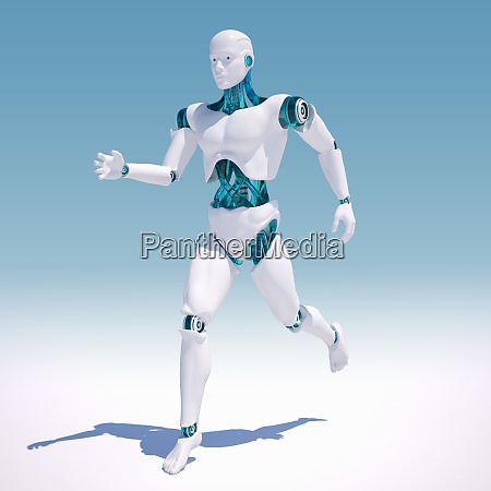 white android running