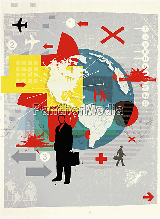 businessman and global business travel