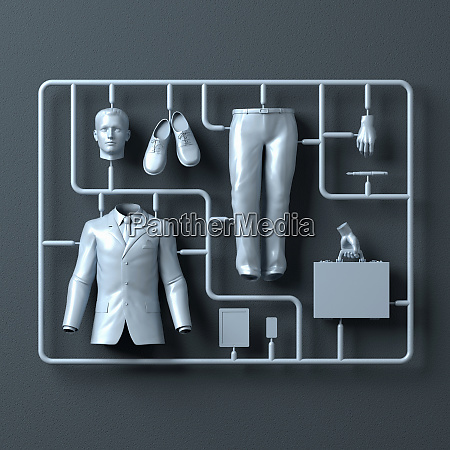 plastic assembly kit for businessman
