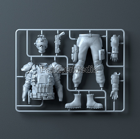 plastic assembly kit for soldier