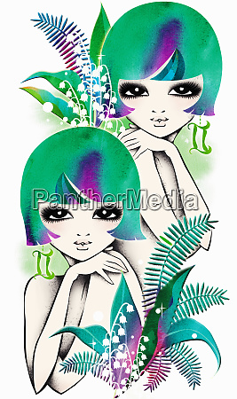 astrology twin women with gemini zodiac