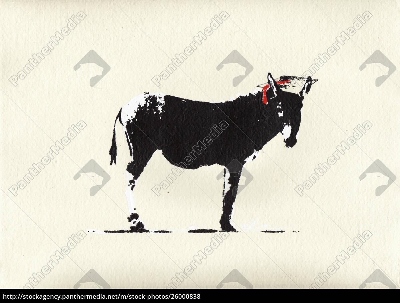 smart, ass, donkey, wearing, mortar, board - 26000838