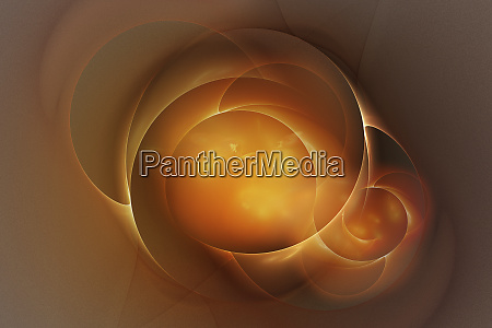 abstract glowing golden shapes