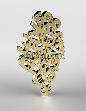 tangle of currency symbols supported by