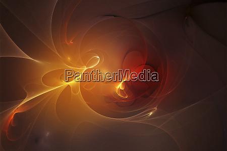 abstract glowing golden swirls