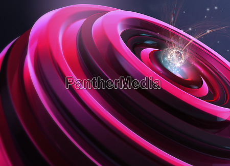 abstract digitally generated pink shape with