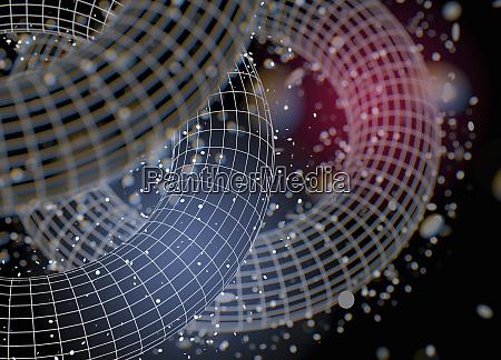 abstract circular mesh tubes