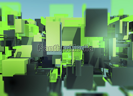 abstract three dimensional multi layered translucent