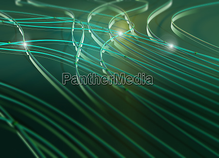 abstract green pattern of light flowing