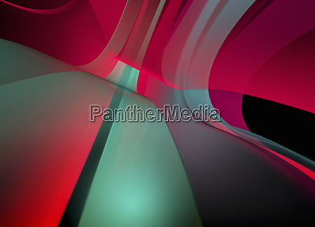 abstract full frame red and green