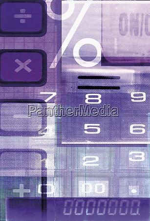 collage of calculator symbols