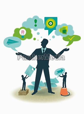 businessman deciding on business strategy