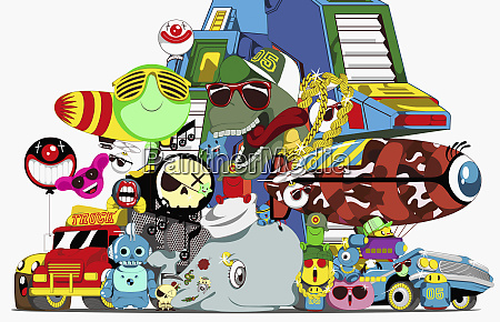 collage of cartoon characters