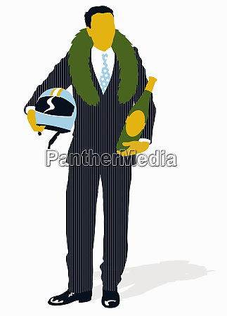businessman, wearing, victory, laurel, wreath, and - 26001651