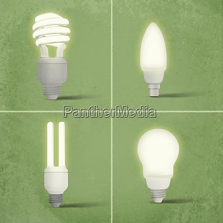 different cfl light bulbs