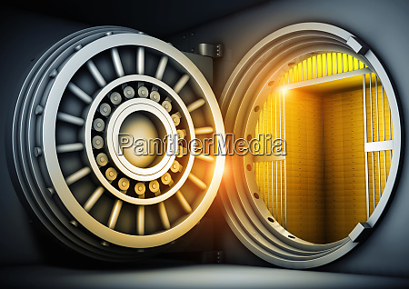 open safe door