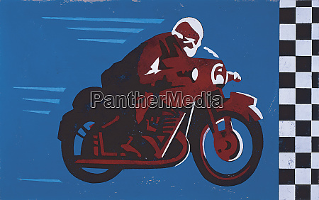 man speeding on motorcycle