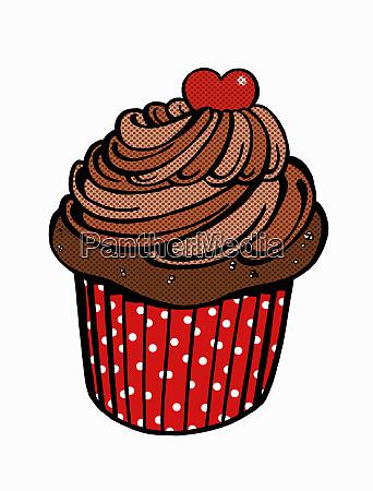 close up of chocolate cupcake