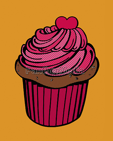 close up of chocolate cupcake with