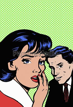 shocked woman turning away from man
