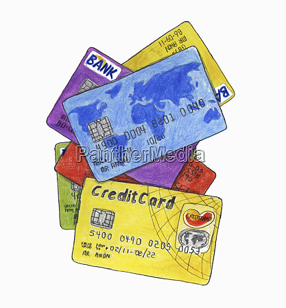 heap of different credit cards