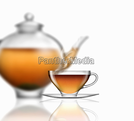 earl grey tea glass teacup saucer