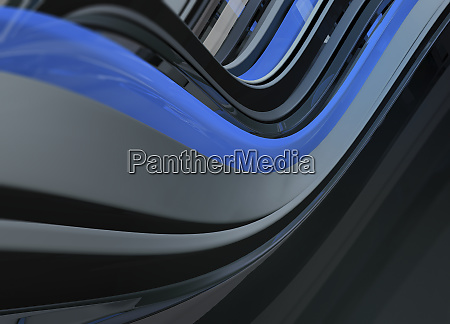 abstract backgrounds pattern of flowing blue