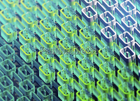three dimensional binary code pattern