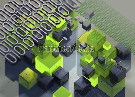 blocks of binary code data and