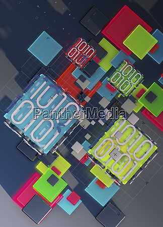 grid squares and blocks of binary