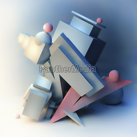 abstract three dimensional architectural sculpture