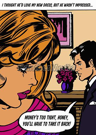 husband talking in speech bubble about