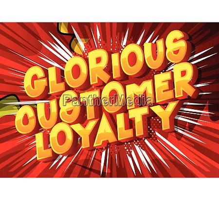 glorious customer loyalty comic book