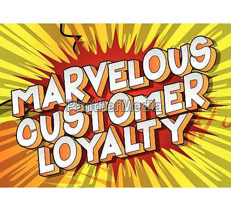 marvelous customer loyalty comic book