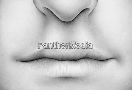 close up of lips