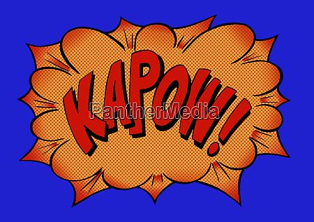 kapow comic book text sound effect