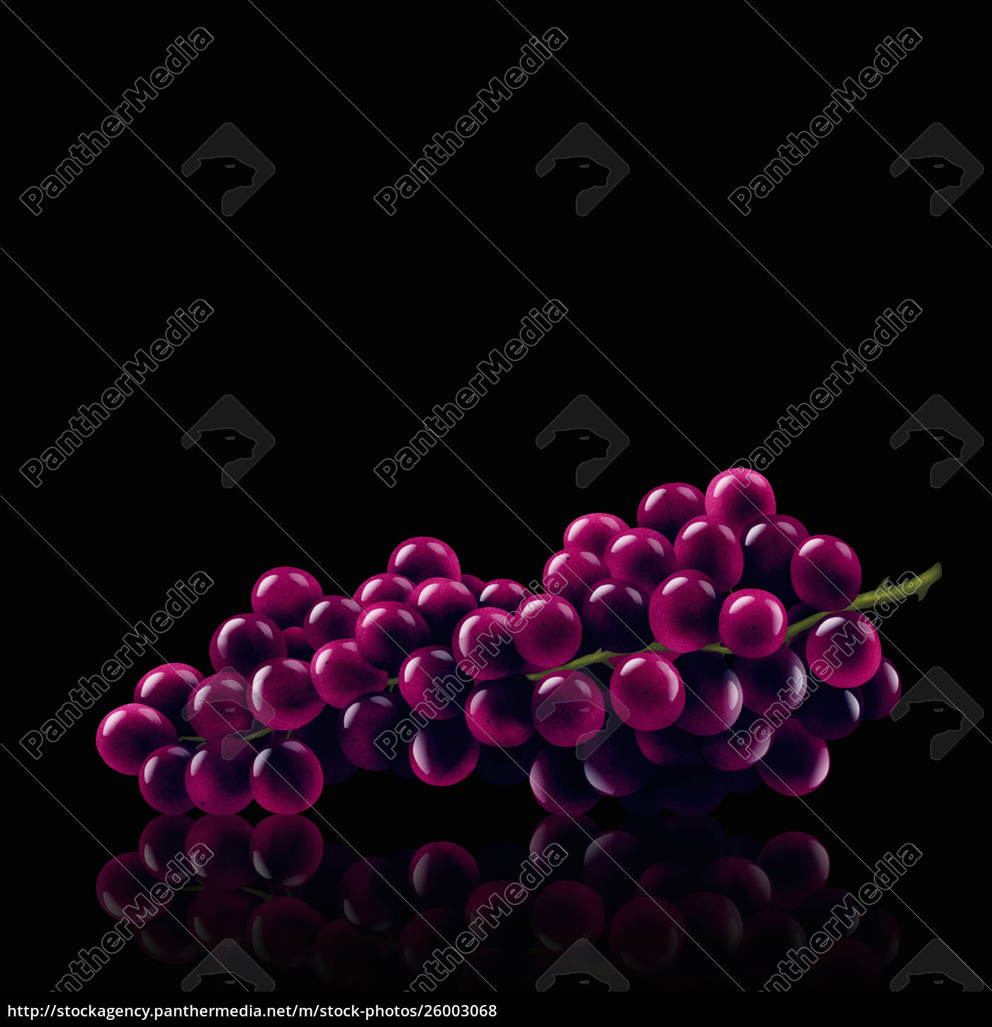 bunch, of, red, grapes - 26003068