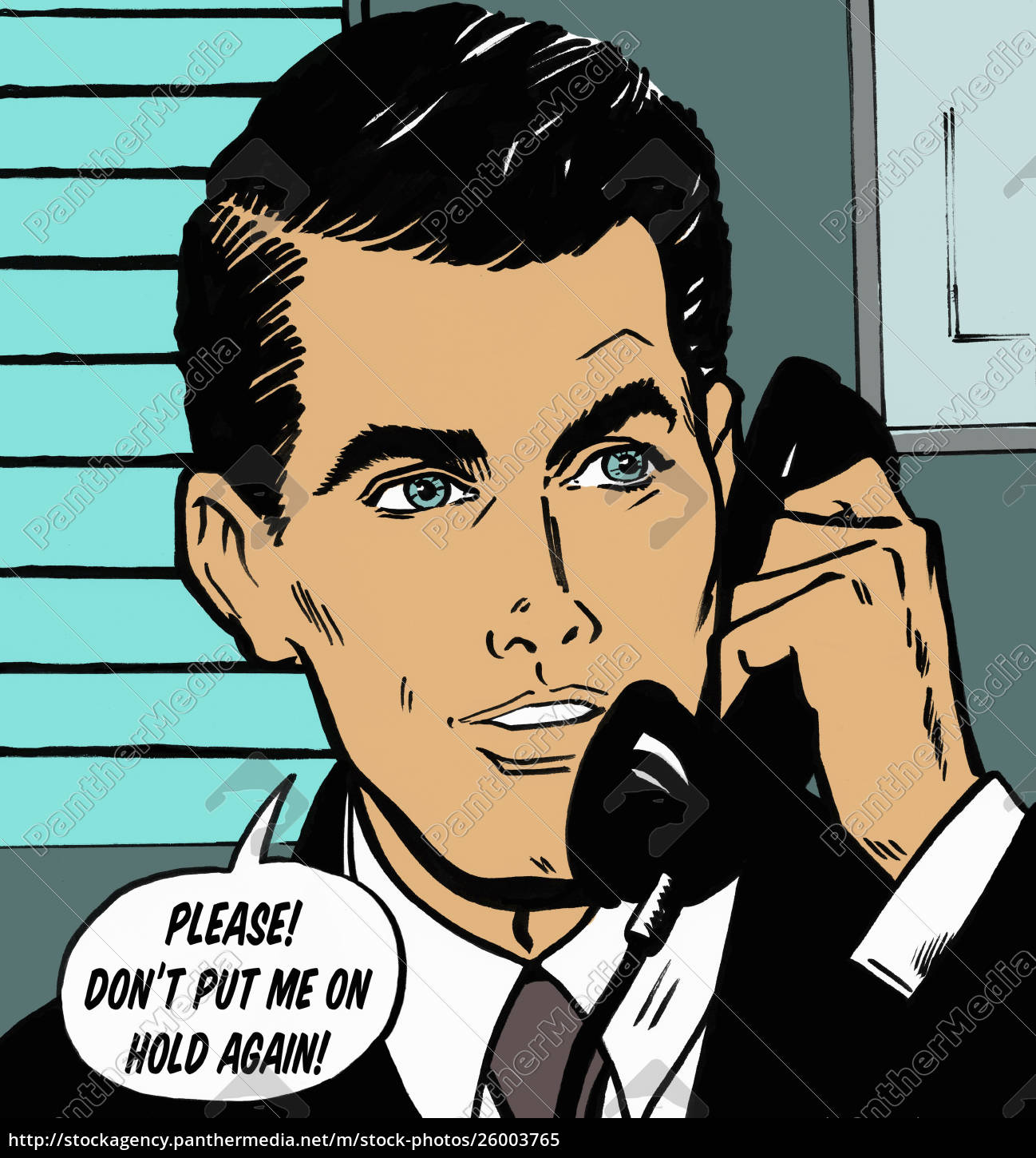 handsome, businessman, talking, on, telephone, in - 26003765