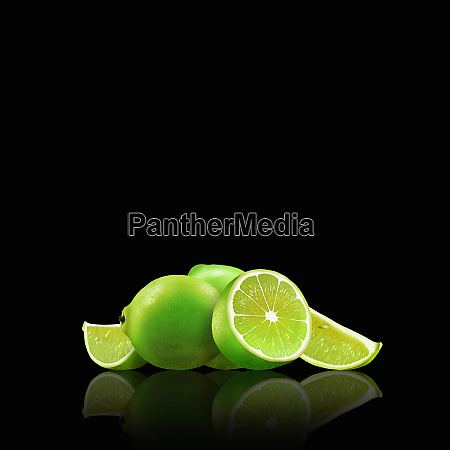 whole, and, cut, limes - 26003060
