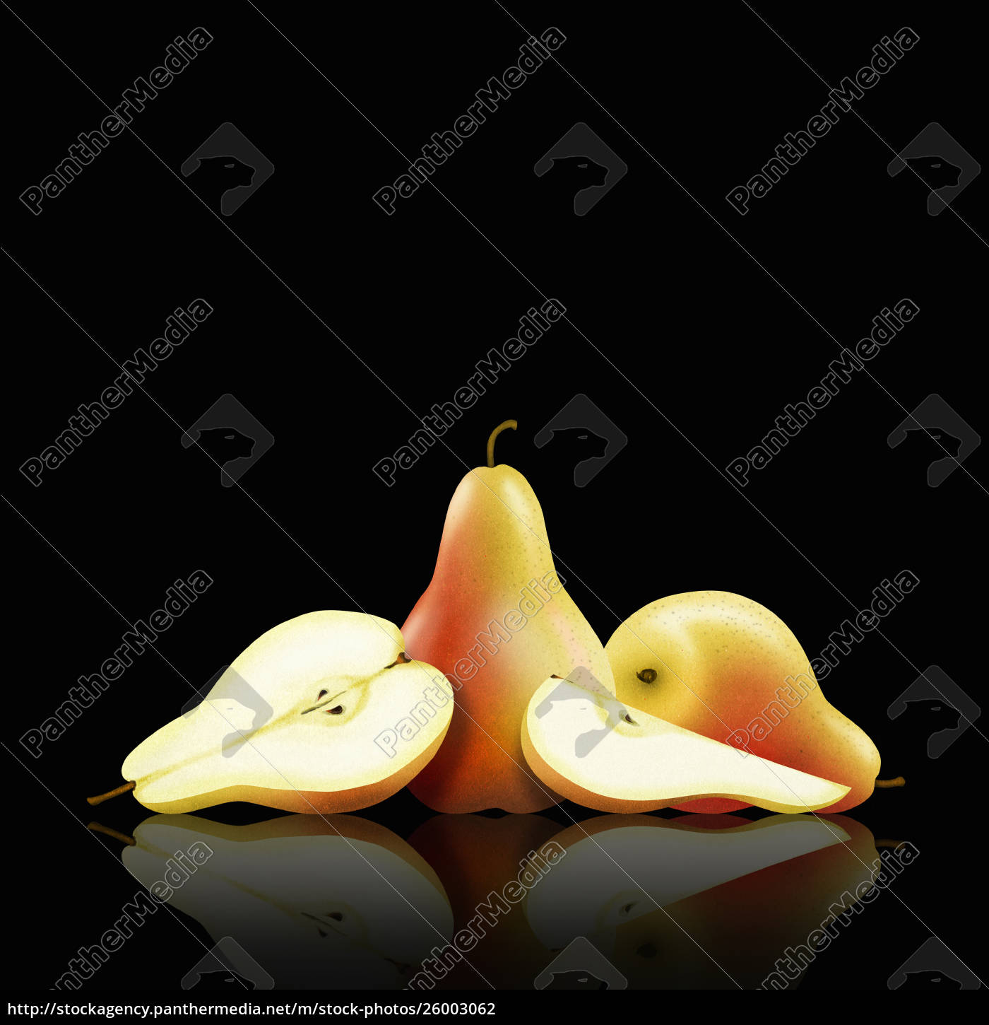whole, and, cut, pears - 26003062