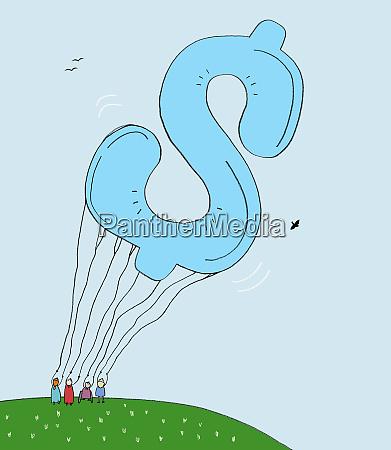 large dollar sign balloon