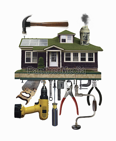 tools supporting house
