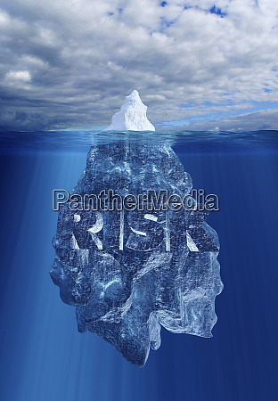 iceberg above and below waterline and