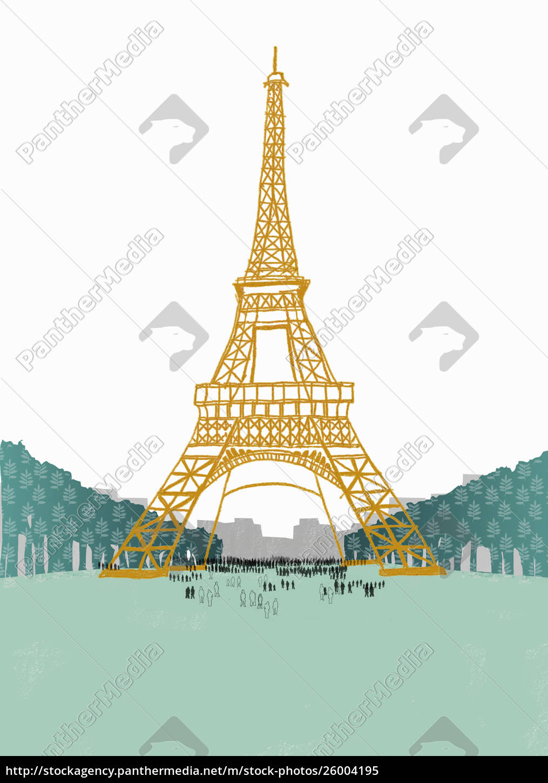 people, beneath, the, eiffel, tower - 26004195