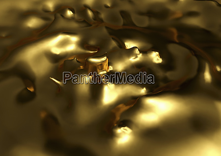 close up of melting gold