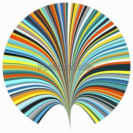 abstract fan shape with rainbow colors