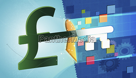 british pound sign shaped business finance