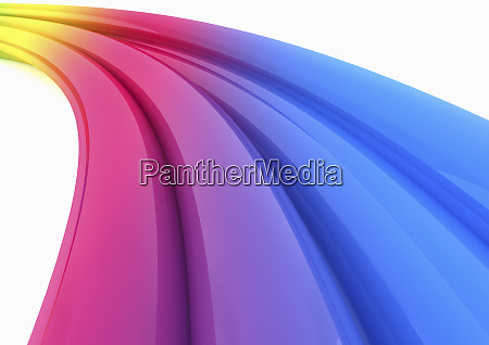 abstract multicolored curving tubes on white