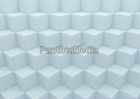 abstract three dimensional cube building blocks