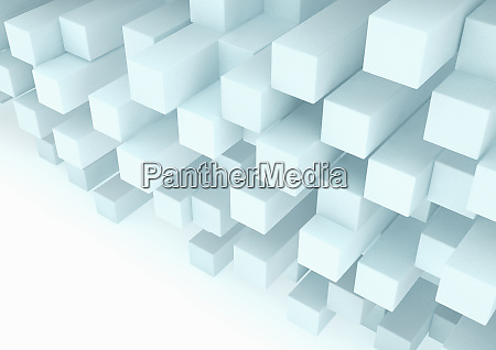 abstract stack of three dimensional rectangular